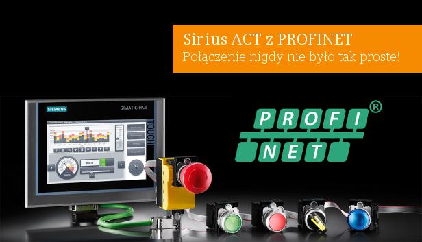Lampki i przyciski Sirius ACT z Profinet